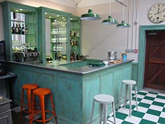 French bar installation in a private workshop