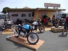 Royal Enfield bike display at The Revival