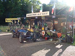 Bugatti period race pits at Chateau Saint-Jean