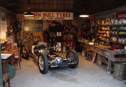 Motoring automobilia for set dressing