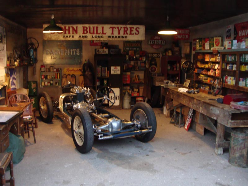 Motoring Automobilia For Set Dressing Vintage Garage